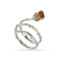 Fashion design jewelry 2 Tone rose rings