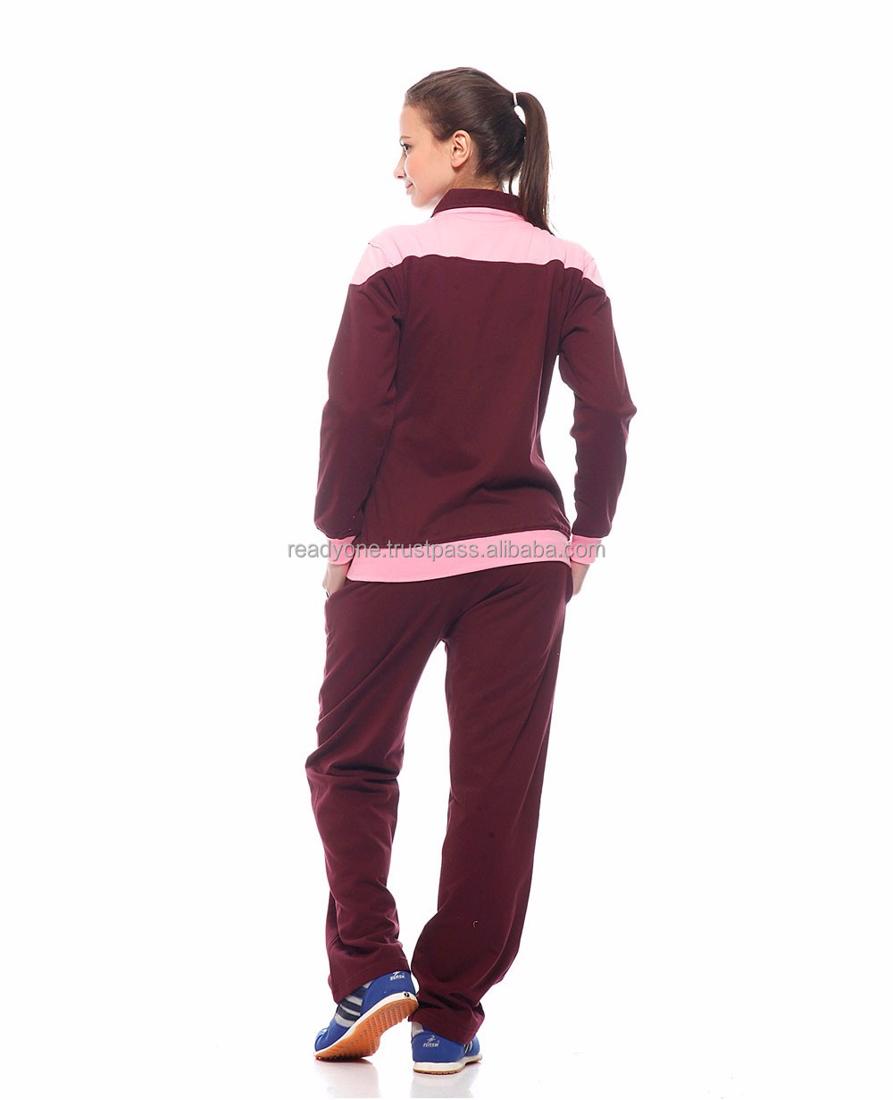 New Fashion Design Velvet Sweat Suit for Ladies / top quality Velvet custom sweatsuit for women