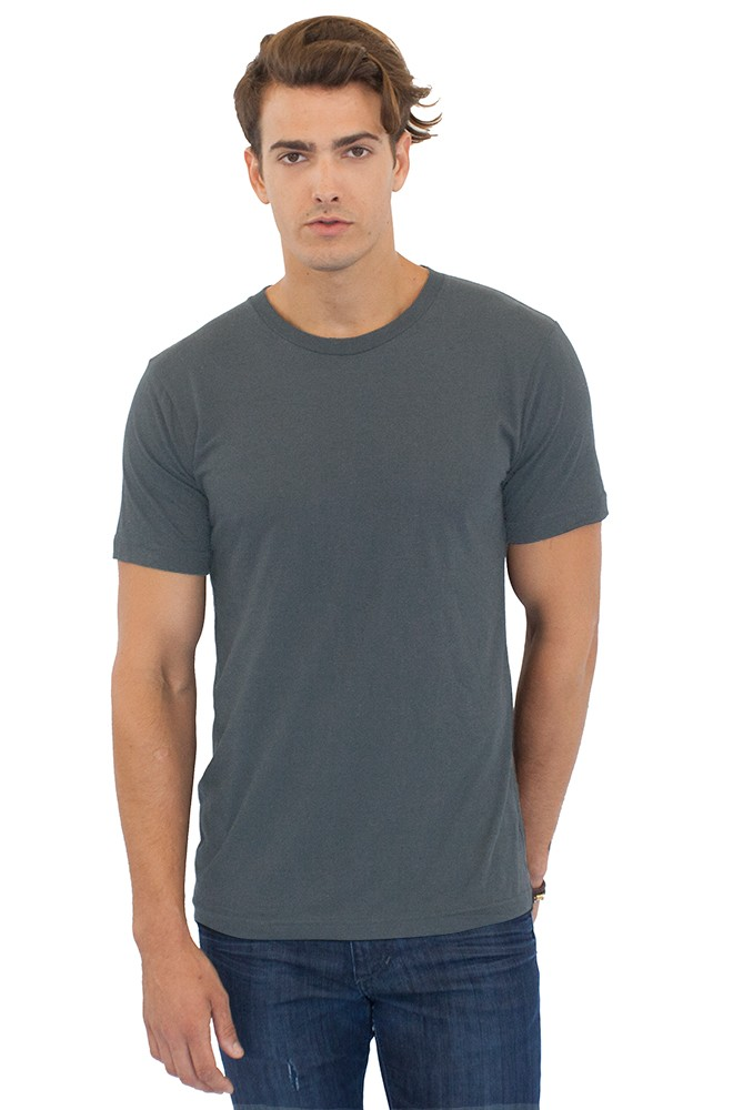 USA Made Royal Apparel Unisex Tubular Short Sleeve ORGANIC Tee - 100% organic cotton and comes with your logo