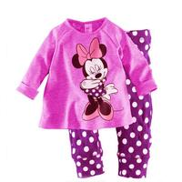 Kids children clothes girls plain pajamas baby girl night wear boutique children sleepwear