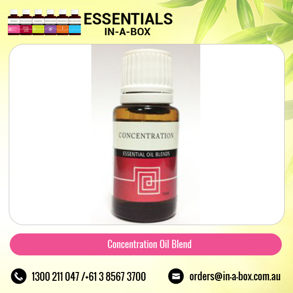 Concentration Essential Oil Blend to stay Focused Memory and Alertness