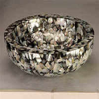 Basin made by river shell/mother of pearl latest design manufacturing india