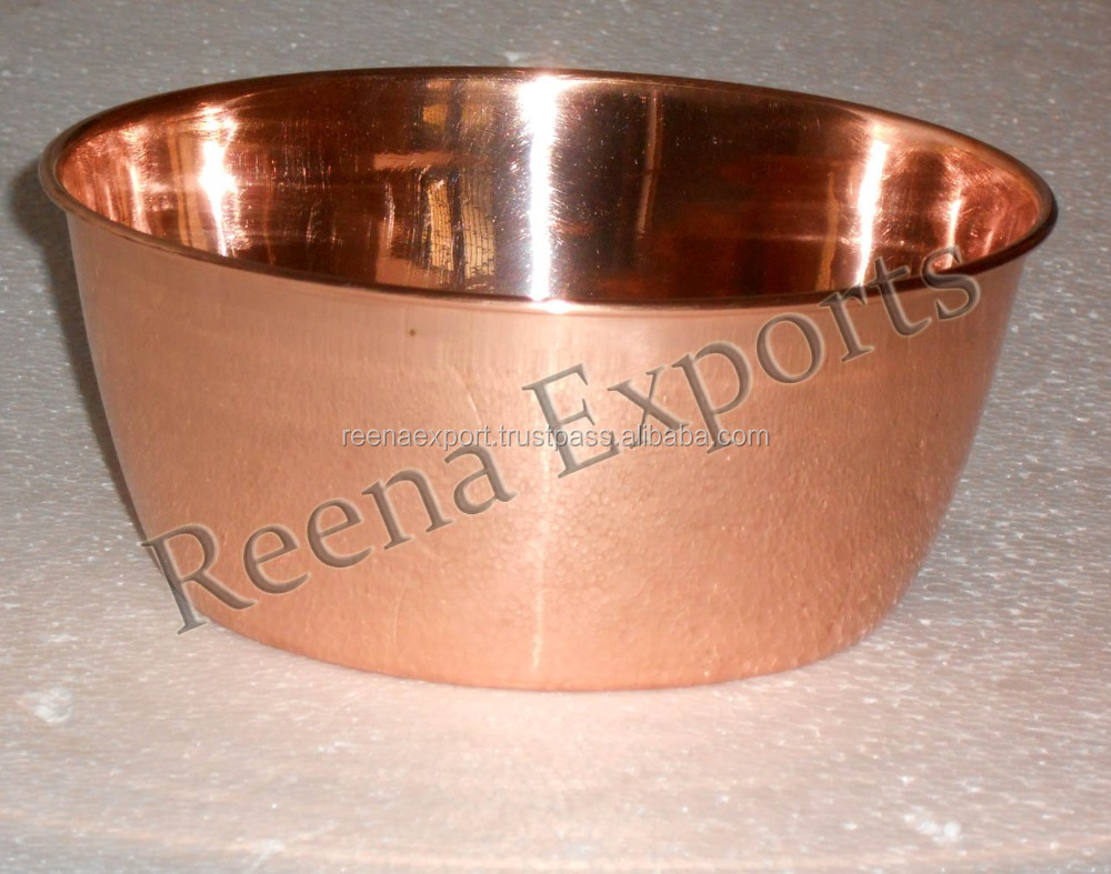 Hand made Pure Copper Ice bowl, Solid copper pet feed bowl