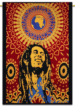 Bob Marley Wall Hanging Indian Cotton Tapestry Twin Size Picnic Decor Throw 84 x 56 Inches TPM119A