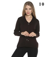 women stone tie accessories Brown color sweater