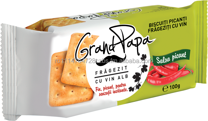 Grand Papa Spicy Salsa Crackers refined with white wine