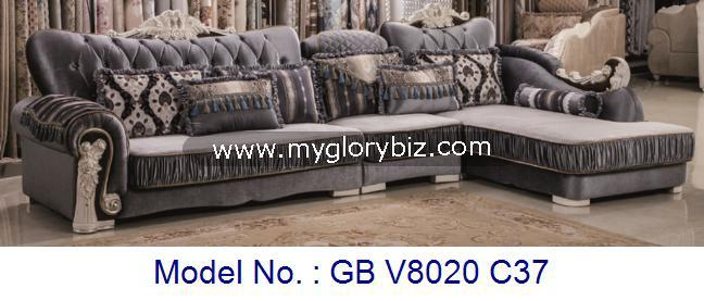 Modern Royal Sofa Set For Living Room Corner Luxury Furniture With L Shape In Fine Quality