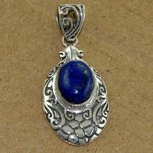 High Work Gemstone Silver Lapis Pendant Wholesaler Silver Jewelry Handmade Pendant 925 Sterling Silver Jewelry