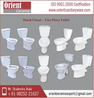 Modern Design Two Piece Wall Hung Toilet from Authentic Manufacturer