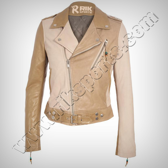 Ladies Leather Jacket, Stylish Look, Unique Article Fashion & Quality Women Jacket Made of Real Cowhide Leather