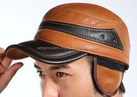 Styliah & Fashion Combo Leather Cap With Ear Protection