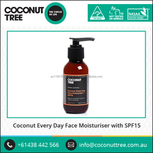 Natural and Healthy Daily Face Moisturiser with Coconut
