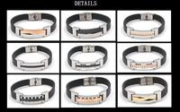 fashion jewelry flower-de-luce stainless steel bracelet with CE certificate paypal accepted bracelet jewelry
