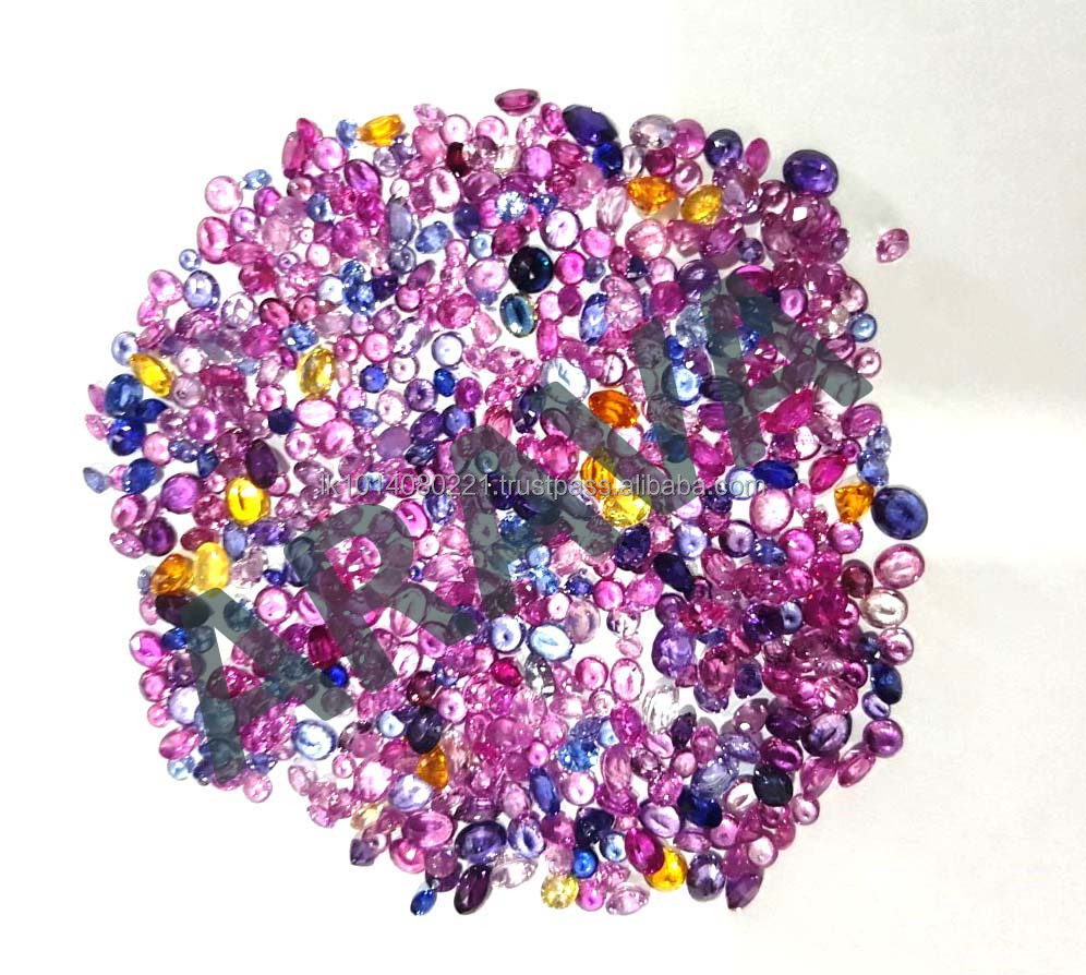 Natural Pink, Blue and Yellow Ceylon Sapphire Good Price, from Gemstone Mine Directly