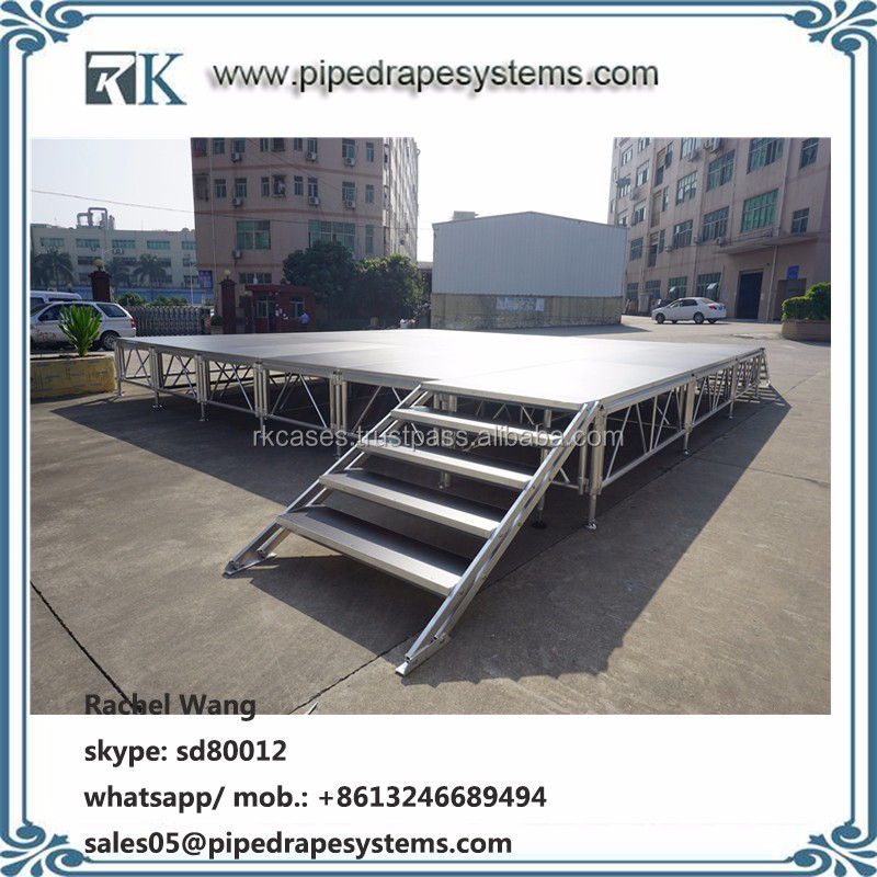 portable aluminum stage outdoor glass platform for swimming pool
