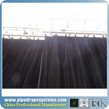 good quality black velvet shining image motorized stage curtains/led video cloth