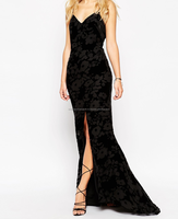 Scatter Devore Velvet Burnout Maxi Dress