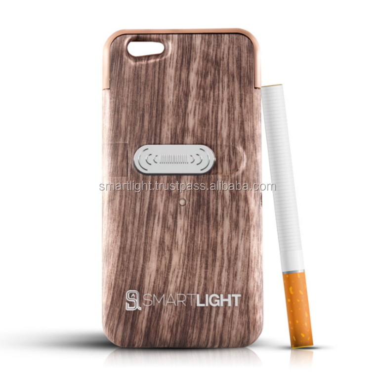 Wholesale hot selling Wood mobile phone cigarette lighter cover for iPhone 6 6S