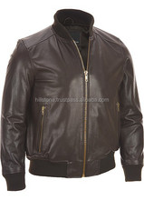 2016 High quality Brown leather winter Bomber pakistan jackets wears man leather jacket