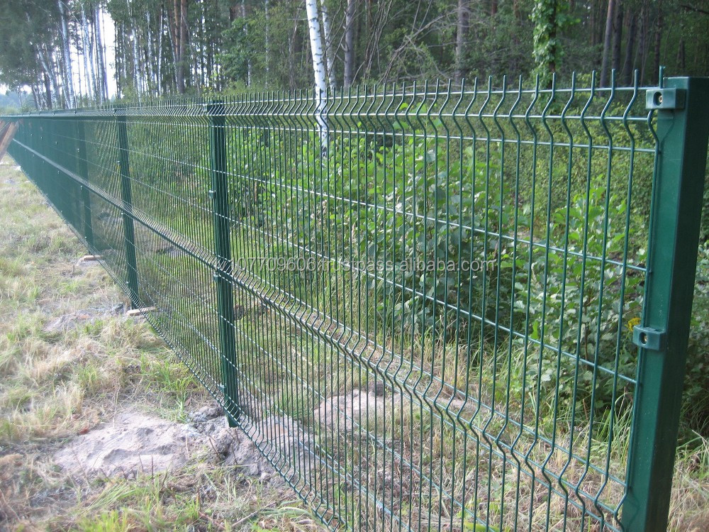 High quality powder coated 3D panel fence