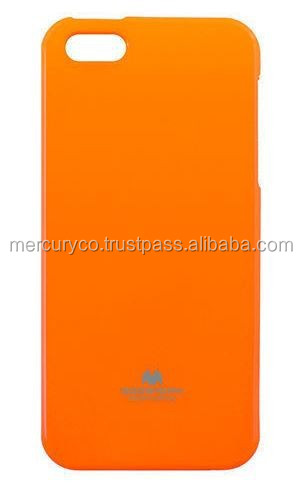 Mercury Fluorescent Jelly tpu mobile phone case (Orange)