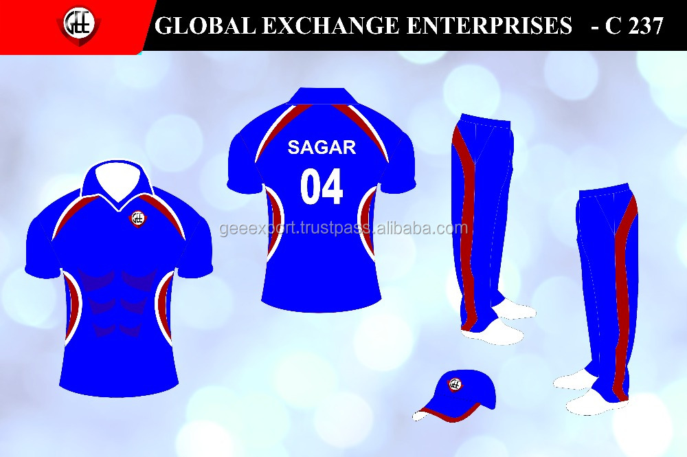 Custom sublimation Cricket Team Uniform