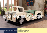 Jeep Bed, Children Bed, Wooden Car Bed
