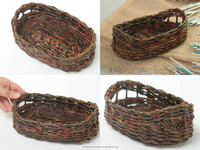 Wicker bread basket handmade