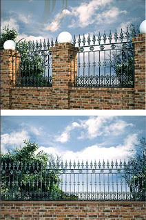 ornamental fencing with wrought iron