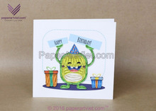3D quilling card calabash fruit/ happy birthday card