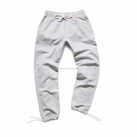 custom cotton sweatpant jogger With White Waist Drawstring men