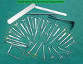 APPENDECTOMY and Hernia INSTRUMENTS SET 74 Pcs Medical supplies Surgical Tools /SURGICAL INSTRUMENTS