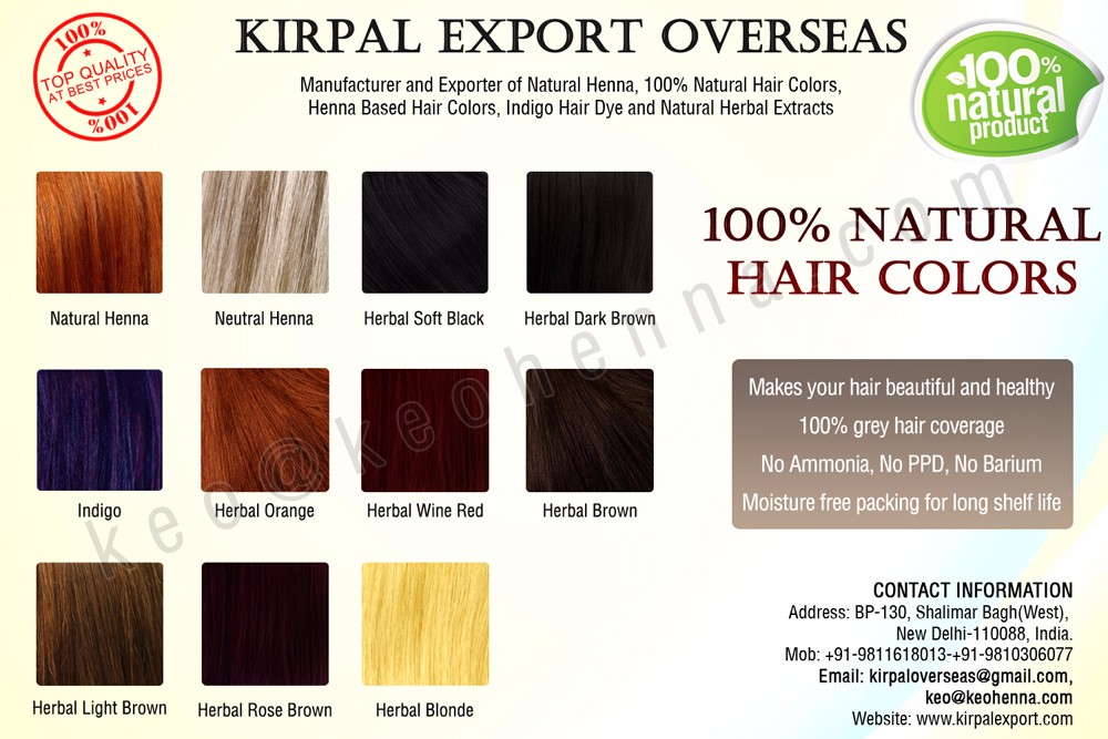 Safe Natural Herbal Hair Dye