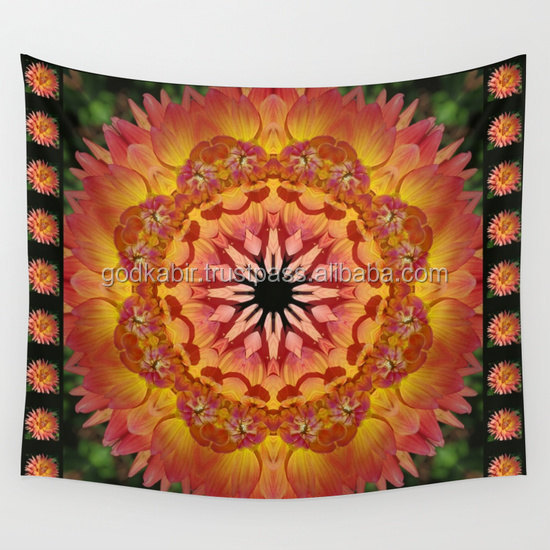 Indian mandala wall tapestry nature photograph cottage garden printed bedsheets