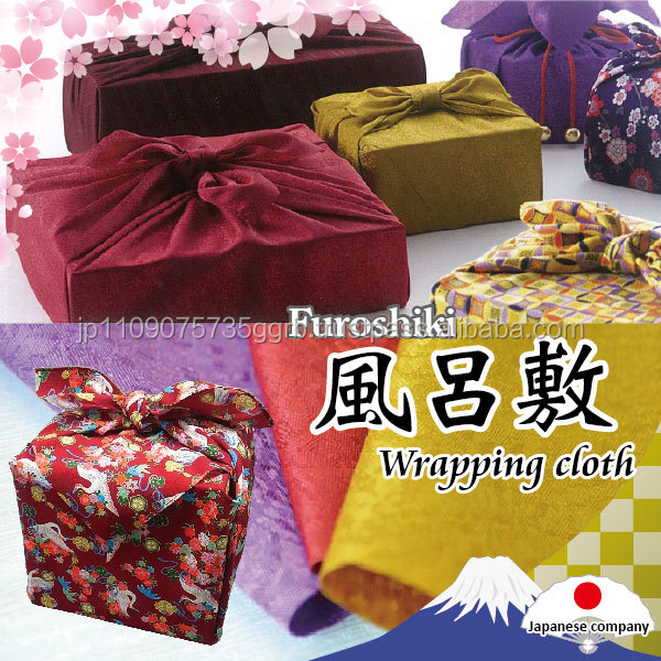 Exclusive colorful furoshiki wrapping cloth packaging bag with traditional designs