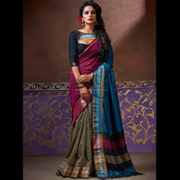 Buy Multi Color Handloom Cotton Silk Saree At Wholesale Rates