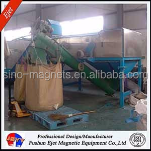 eddy current equipment for separates aluminum parts (Al-cans)