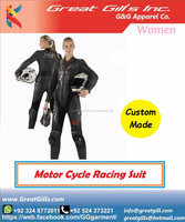 High Quality Ladies Motorbike Leather Racing Suit-Two Piece Motorcycle Leather Suits- Women Racing Leather