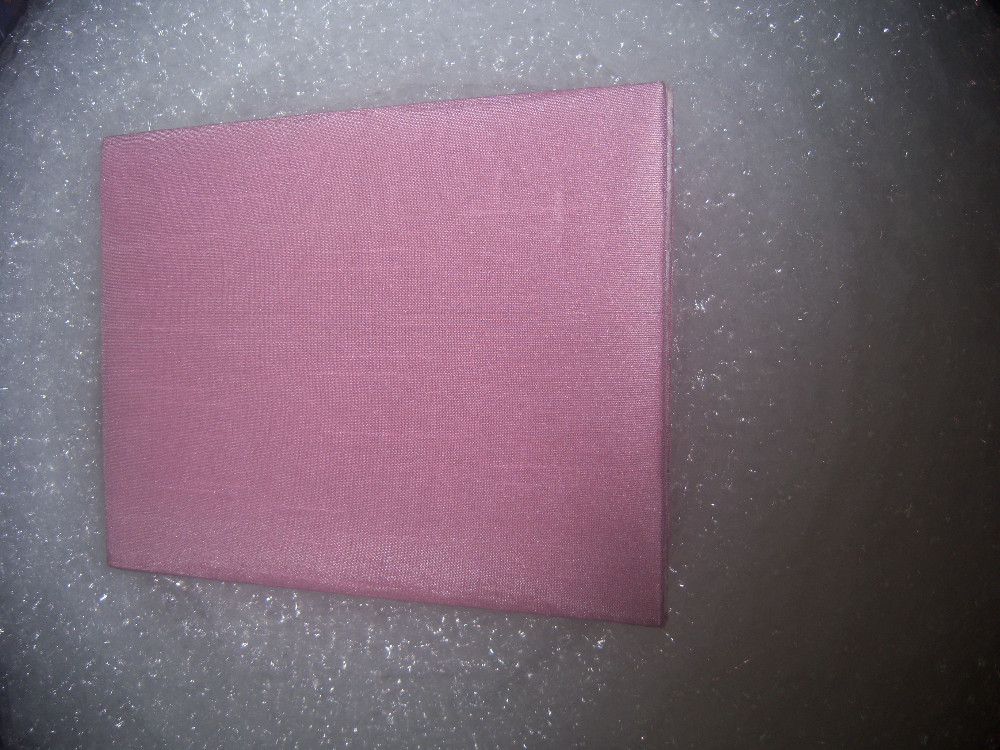 silk wedding invitation folios with brooches and along with printed inserts and matching envelopes