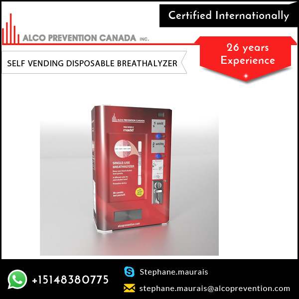 Cost Effective Lowest Rate Breath Alcohol Tester Vending Machine
