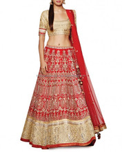 Red Lengha with Gota Patti Work