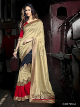 Red Brasso Crushed Silk With Double Blouse Designer Saree/saree embroidery machine/wholesale saree
