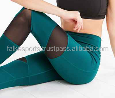 Falke Sports D174 Sexy women transparent leggings tights yoga pants manufacturer from pakistan