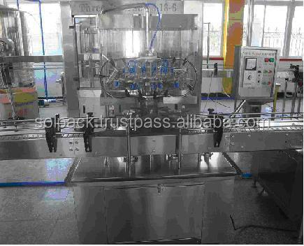 Vertical automatic bottle filling packing line