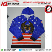 Latest American flag custom hoodie / Sublimation USA flag hoodie