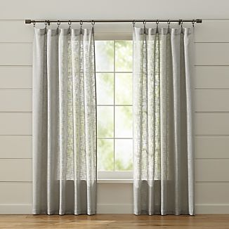 Curtains for Living Room 100% Linen Embroidered Home Decor