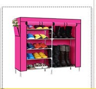 Folding simple design easy to assemble fabric shoe rack