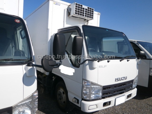 GOOD CONDITION JAPANESE USED ISUZU ELF TRUCK BKG-NKR85AN 2009 WITH REFRIGERATOR & FREEZER