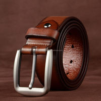Men S Belt Silver Smooth Buckle