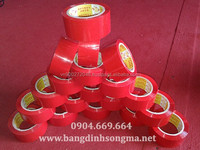 Best environment- friendly strong adhesive Vietnam OPP red color tape